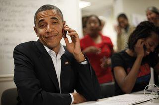 President Obama_on phone