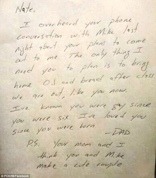 Gay son letter