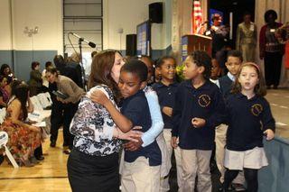 Student Teacher hug